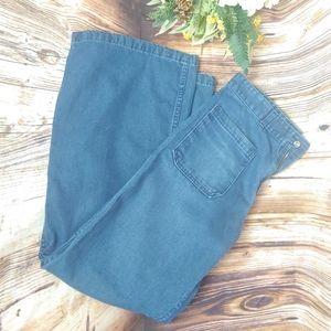 Retro 70s Wide Leg Bell Bottom Jeans by Seafarer